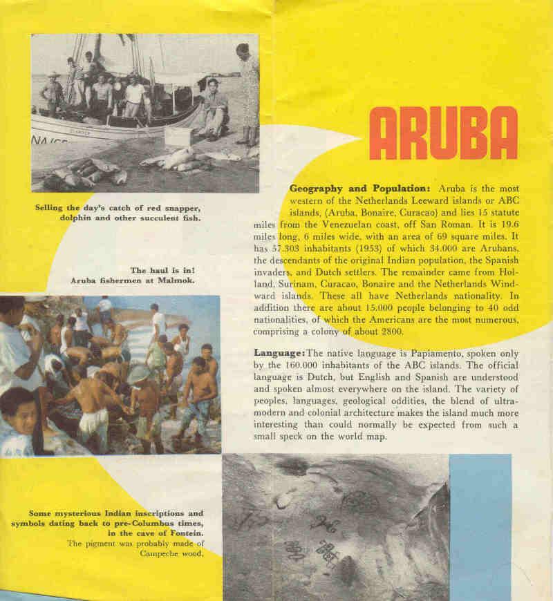 Aruba Travel Brochure From 1954