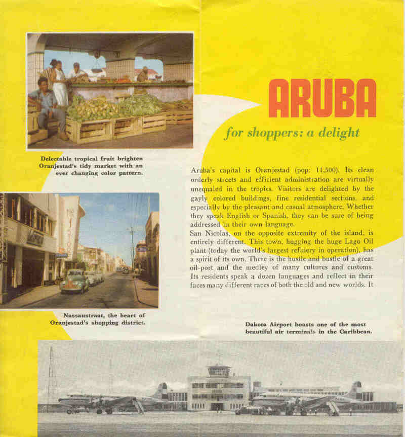 Aruba Travel Brochure From 1954
