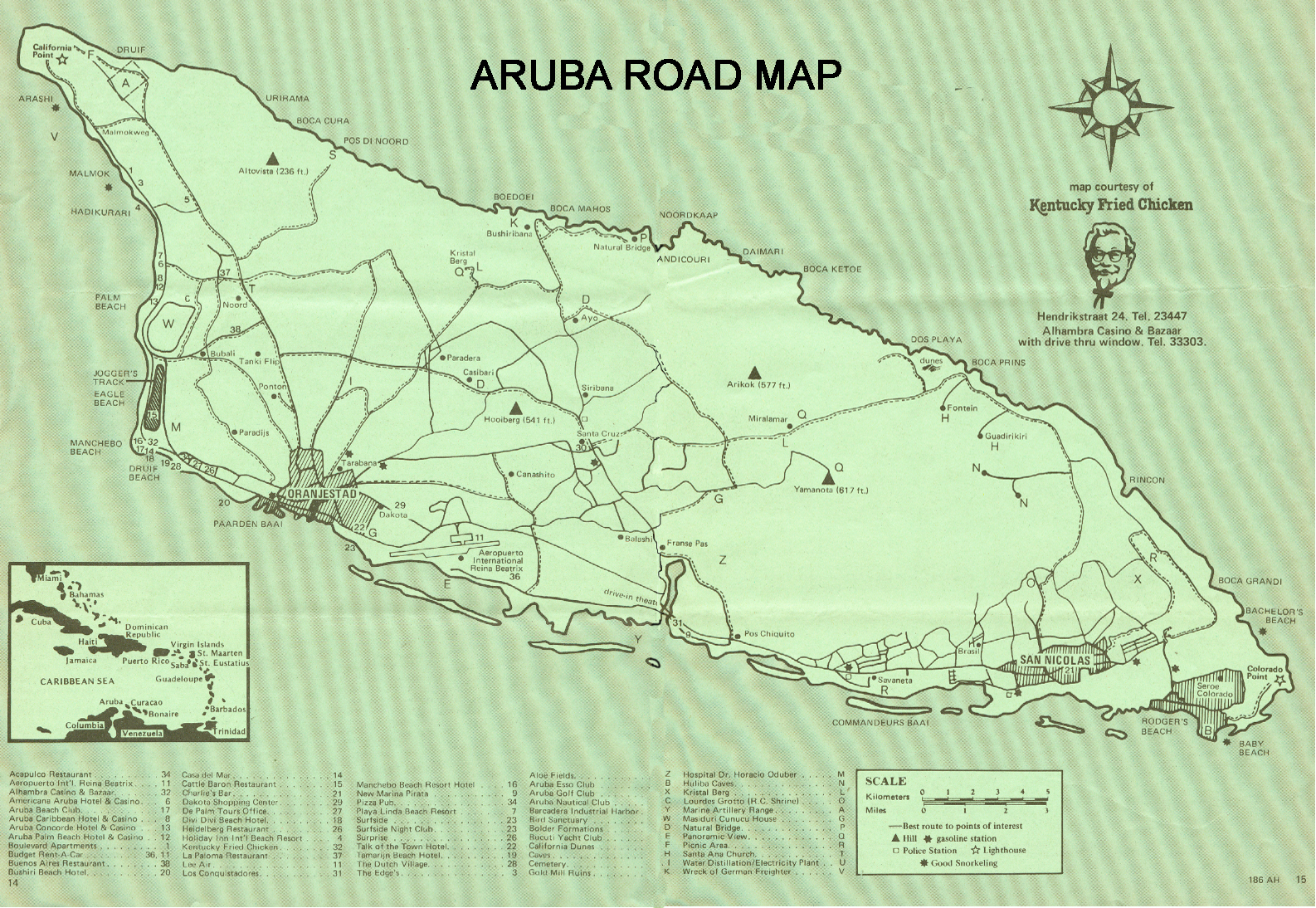 ARUBA ROAD MAP FROM 1989